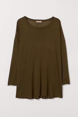 H&M H&M+ Wide-cut Sweater - Green