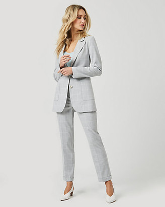 Le Château Windowpane Check Relaxed Fit Blazer