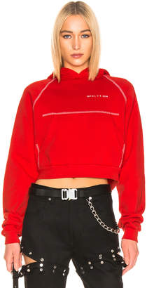 Alyx Snap Back Hoodie in Red | FWRD