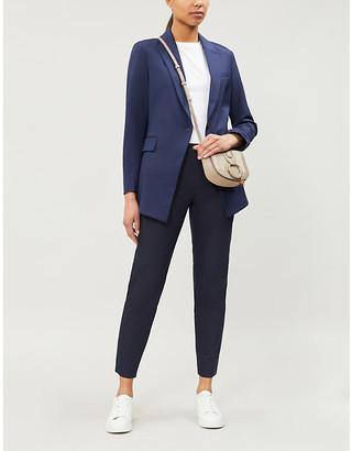 Theory Womens Sea Blue Etiennette Stretch-Wool Jacket