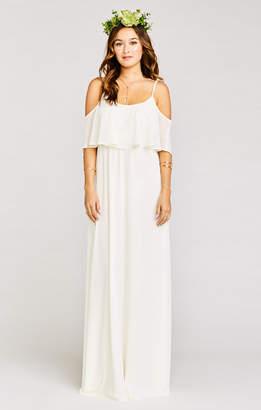 Show Me Your Mumu Caitlin Ruffle Maxi Dress ~ Wedding Cake Chiffon