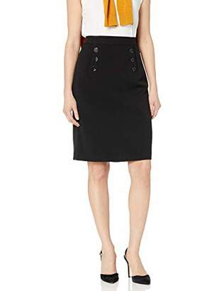 Nine West Women's 6 Button Crepe Skirt