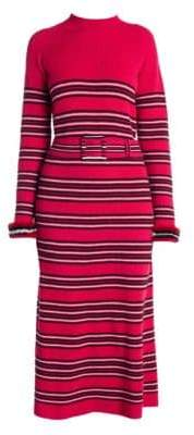 Fendi Cashmere Wool Belted Midi Dress