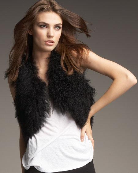 Graham & Spencer Cropped Fur Vest