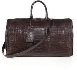 Santiago Gonzalez Crocodile Weekender Bag