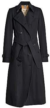 Burberry Women's Chelsea Long Cotton Trench - Size 0