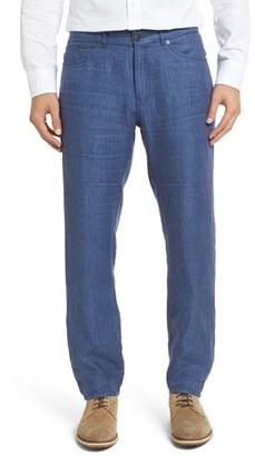 Men's Peter Millar Five Pocket Linen Pants $145 thestylecure.com