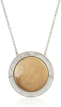 The Sak Metal Inlay Pendant Necklace