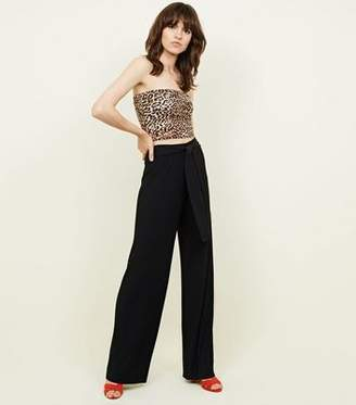 ed206724b5 New Look Womens Black High Waisted Trousers - ShopStyle UK