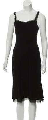 Chanel Wool Mini Dress Black Wool Mini Dress