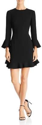 Jill Stuart Flounced Crepe Dress