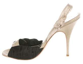 Givenchy Metallic Slingback Sandals