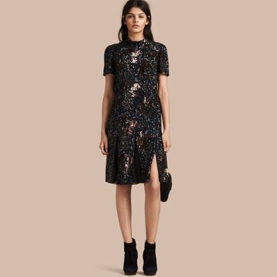 Burberry  Burberry Hand-embroidered Sequin Dress