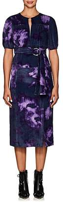 Altuzarra Women's Angelou Tie-Dyed Velvet Midi-Dress - Purple