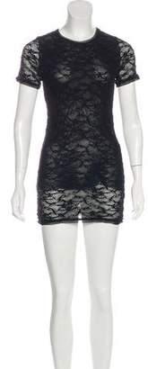 Fuzzi Crocheted Mini Dress
