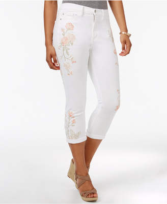 Buffalo David Bitton Ivy Embroidered Skinny Capri Jeans $118 thestylecure.com
