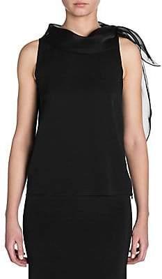 Giorgio Armani Women's Sleeveless Silk Neck Tie Blouse