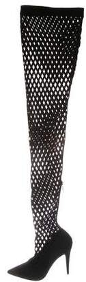 Tamara Mellon Suede Cutout Over-The-Knee Boots w/ Tags