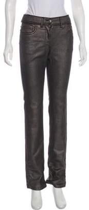 Chanel Mid-Rise Metallic Jeans Metallic Mid-Rise Metallic Jeans