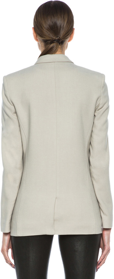 Helmut Lang Noa Viscose-Blend Suiting Blazer in Tan
