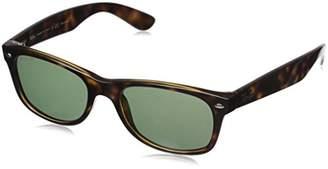 Ray-Ban RB2132 New Wayfarer Sunglasses - 894/76 Tortoise (Polarized Blue Green Gradient Lens) - 55mm