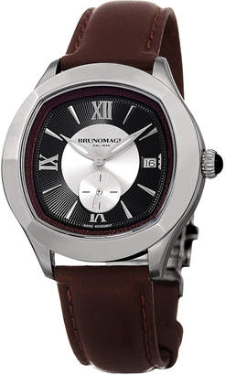 Bruno Magli Men's 42mm Amadeo Watch w/ Brown Strap