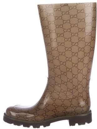 Gucci GG Rubber Rain Boots