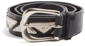 Isabel Marant Studded Leather Belt - Womens - Black
