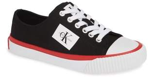 Calvin Klein Jeans Ivory Lace-Up Sneaker