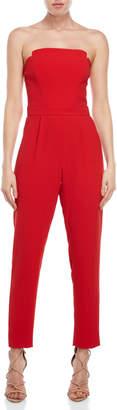 Jill Stuart Strapless Crepe Jumpsuit