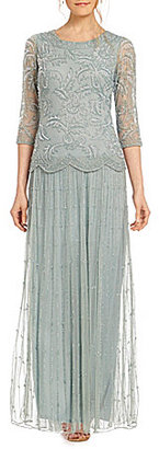 Pisarro Nights Mock 2-Piece Beaded Gown $218 thestylecure.com