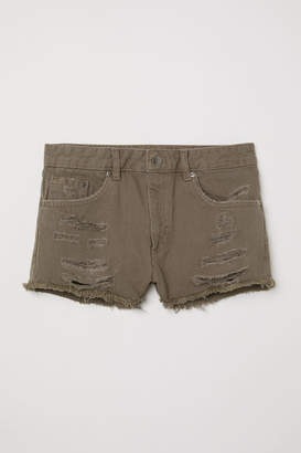 H&M Denim Shorts Skinny Regular - Green