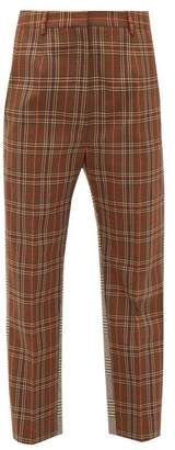 MM6 MAISON MARGIELA Contrast Check Twill Trousers - Womens - Brown