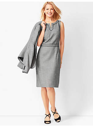 Talbots Westport Split-Neck Sheath Dress