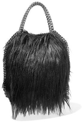 Stella McCartney Fringed Chain-Trimmed Faux-Fur Tote
