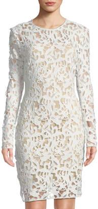 Alexia Admor Crochet-Lace Sheath Dress