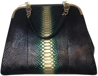 Bulgari Black Python Handbag