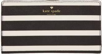 Kate Spade Women's Stripe Stacy Purse Black & Cream