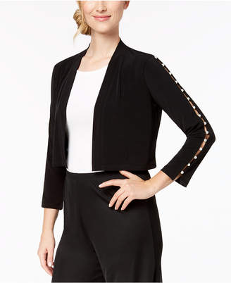 Calvin Klein Imitation-Pearl Trim Shrug