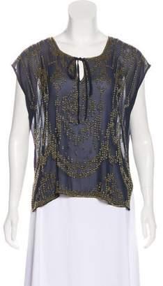 Gryphon Silk Embellished Blouse