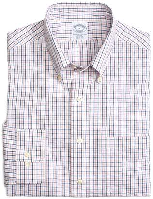 Brooks Brothers Cotton Slim Fit Checked Seersucker Sport Shirt