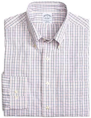 Brooks Brothers Cotton Slim Fit Checked Seersucker Sport Shirt