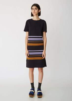 Marni Striped Short Sleeve Knit Dress