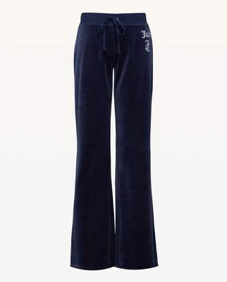 Juicy Couture Ornate Cameo Velour Del Rey Pant