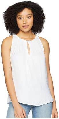 Vince Camuto Sleeveless Rumple Keyhole Halter Blouse Women's Blouse