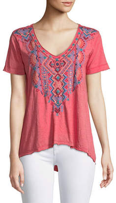 Johnny Was Sonoma Embroidered Everyday Tee