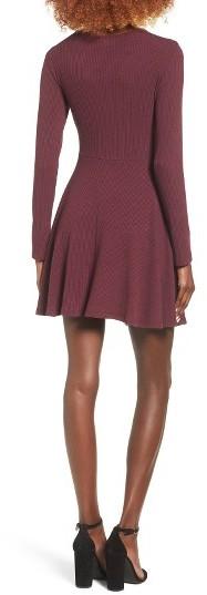 Women's Everly Rib Knit Wrap Dress 2