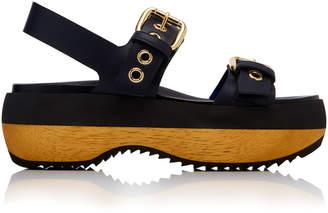 Marni Buckled Leather Platform Sandals