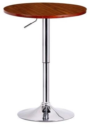 Boraam Runda Adjustable Round TopWood Finish with Metal Stand Pub Table