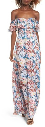 Women's Devlin Beth Off The Shoulder Maxi Dress $148 thestylecure.com